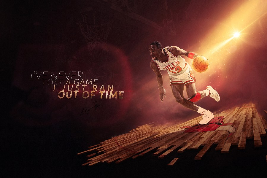 Michael Jordan Legend Inspirational Quotes Basketball Sports Poster