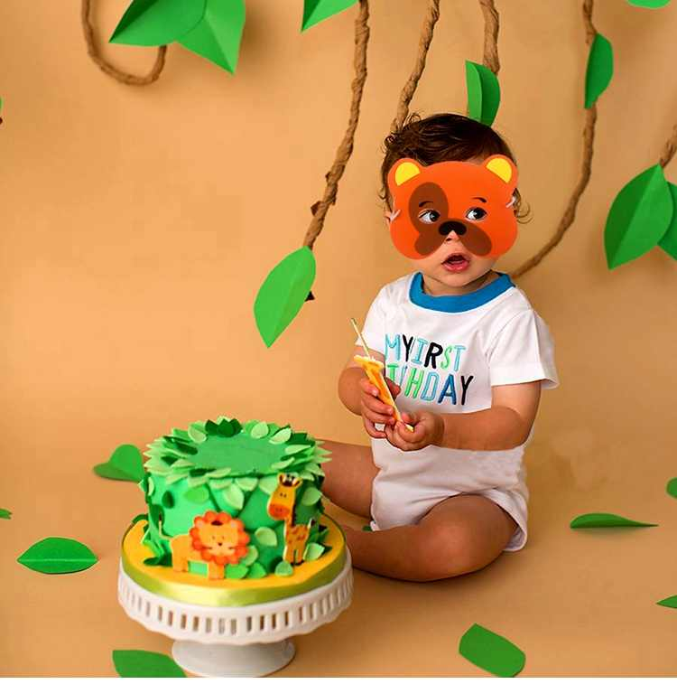 FENGRISE Animal Ballons Birthday Jungle Party Safari Theme Baloon Decor Kid