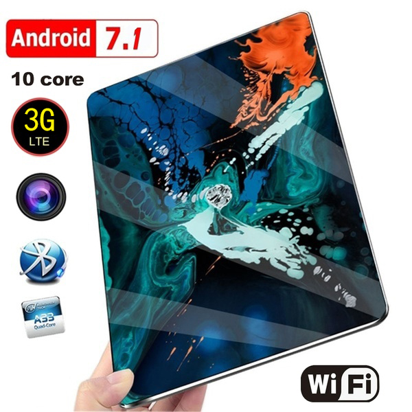 New 10 Inch Tablet Pc Dual SIM 3G Phone Tablet  WIFI Andriod 7.1 Ten Core 6G RAM+16/64/128G ROM Tablet  Dual  GPS Phone Pad