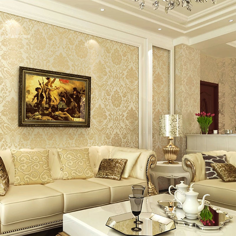 wallpapers for living room damascus minimalist beige blue wallpaper bedroom wall 14793