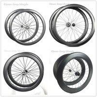 1420 nói 700c bánh xe tương thích với 8/9/10/11 tốc độ groupset 50 mét móc sắt bánh xe 25 mét võng xuống carbon trục hai bánh xe