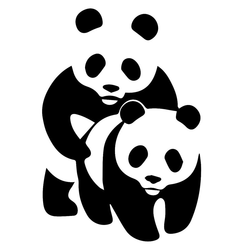12.1*17.8CM Panda <font><b>Funny</b></font> <font><b>Sex</b></font> Car <font><b>Sticker</b></font> Interesting Decorative Vinyl Car Styling Decal Black/Silver C9-1492 image