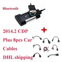 2017 Newest Bluetooth For Autocom CDP Pro Diagnostic 3 in 1 for Cars & Trucks Plus Full set car 8 Cables--DHL