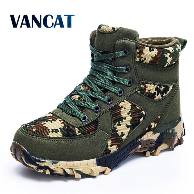 Big size New Winter Wool Men's Boots Waterproof Men's Desert High-top Military Tactical Boots Men Combat Army Boots Snow Boots