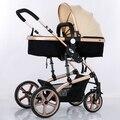 Carrinho de alta paisagem pode sentar mentira two-way quatro-rodas crianças de choque luz portátil dobrável carrinho de bebê