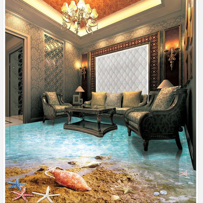 papel pintado para paredes de la playa estrella de mar shell beach ocean bao piso