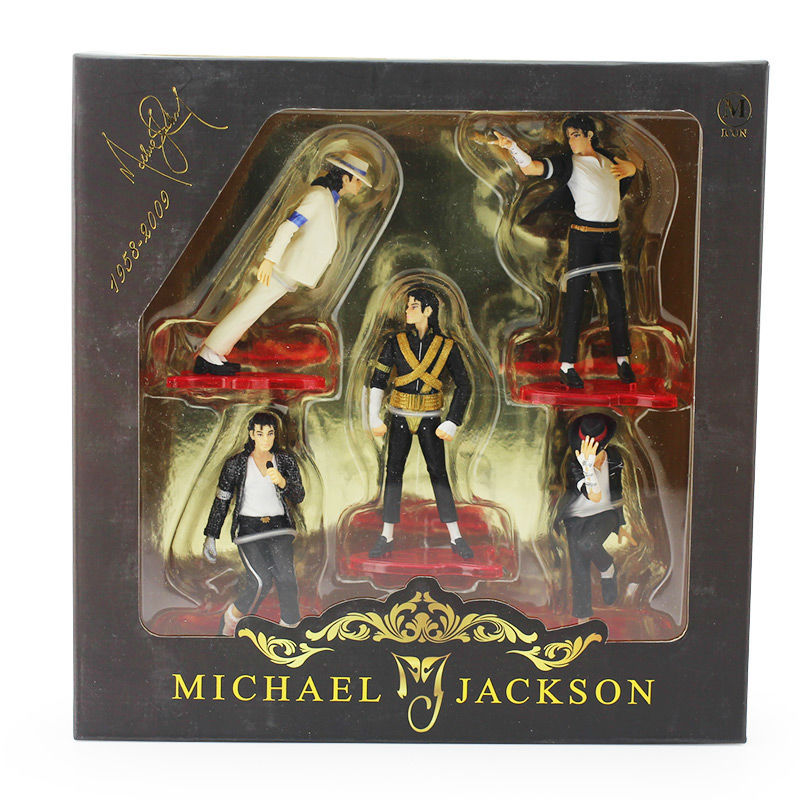 11cm 5pcs set michael jackson figures 5 pose pvc action for Three jackson toy