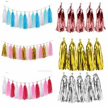 Colorful Tissue Paper Tassels Garland Wedding Decoration Hanging Decor Baby Shower for Kids Birthday Paper Craft Party Favors decorative wedding party paper crafts 4 12 paper fans diy hanging tissue paper flower for wedding birthday party festival