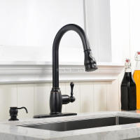 Promotions Solid 100 Copper ORB Black Kitchen Tap Oil Rubbed Bronze Deck Mounted With Single Handle
