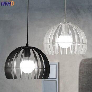 IWHD Eisen FÜHRTE Hängende lichter Mode Restaurant Anhänger Leuchten Hause Beleuchtung Esszimmer Hanglamp Weiß Schwarz Leuchte