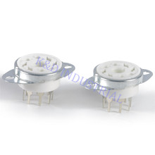 2pcs 8pin Octal Ceramic Tube Socket 6SN7 KT66 KT88 EL34 5U4G 6CA7 6550 K8A PCB with Bracket Guitar Amp DIY цена и фото