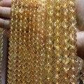 AAA + Natural Top grade Amarelo Citrino Quartz Semi-precious Stone beads Para Fazer Jóias DIY Material 4/6/7 milímetros Vertente 15.5''