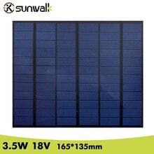 SUNWALK 3.5W 18V Polycrystalline Solar Panel PET Mini DIY Solar Panel Module Battery Cell for Solar System Size 165*135mm