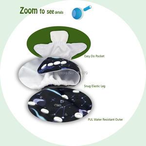 Image 3 - Alvababy 4ピース/セット布おむつベビーシェル調節可能な再利用可能なベビー布おむつを挿入せずにシェル