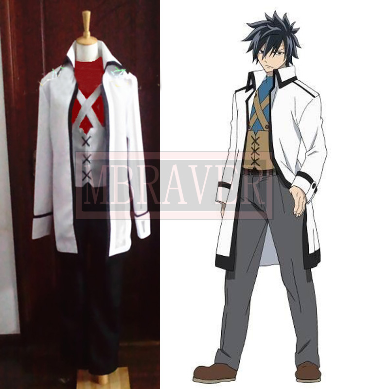 Excellent Fairy Tail Gerard Gray Fullbuster Cosplay Costume Custom Made Any  UY18
