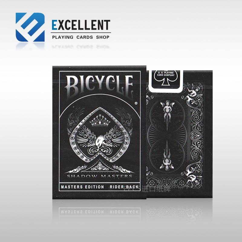حار بيع جديد بوكر الظل ماستر دراجة ماجيك أوراق اللعب الأسود المؤخرة لعب الخدع السحرية الدعائم