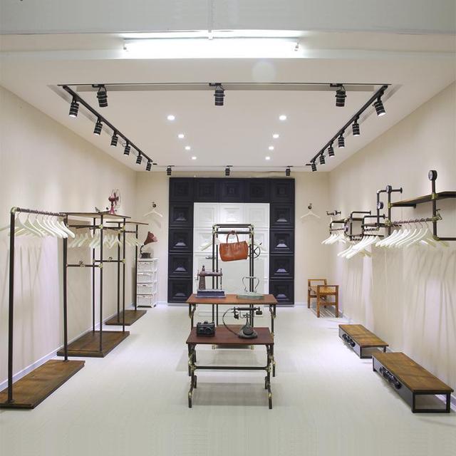Continental Iron Clothing Store Display Shelf Display Rack