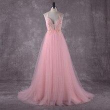 Pink Beach Wedding Dress Spaghetti Straps 2018 Sequin Lace Top Sexy Boho Bridal Dresses Open Back Robe de mariee