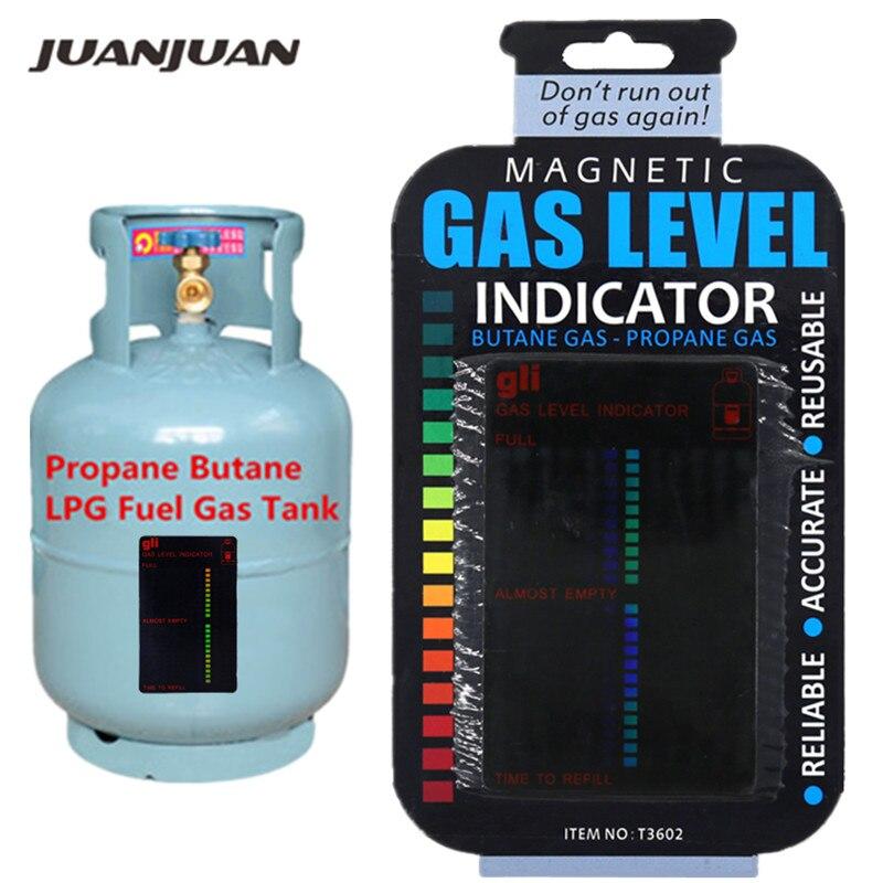 Magnetic Propane Butane Gas Bottle Level Indicator Gauge Caravane Travel Camping