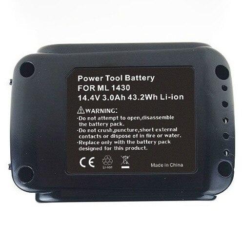 3000 mah Li-ion 14.4 V batterie Ni-MH pour Makita 194065-3 194066-1 BL1430