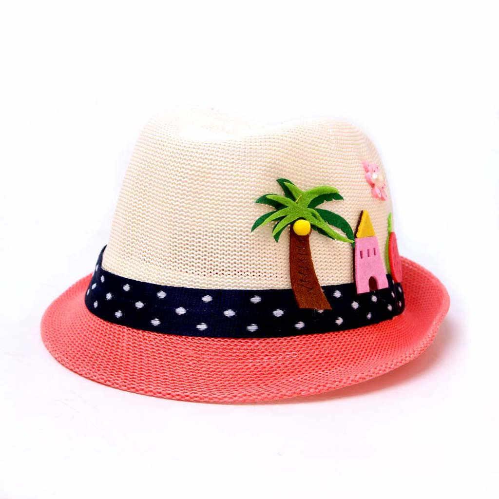 MUQGEW เด็กหมวกฤดูร้อนเด็ก Sunhats หมวกเด็กการ์ตูน Breathable หมวกเด็กหญิงหมวกเด็กวัยหัดเดินเด็กหมวกชายหาดสำหรับเด็ก