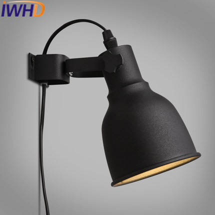 IWHD Loft Industrial Vintage Wall Light Up Down Angle Adjustable Iron LED Wall Lamp Black Stair Retro Arandela Home Lighting iwhd copper loft industrial wall light