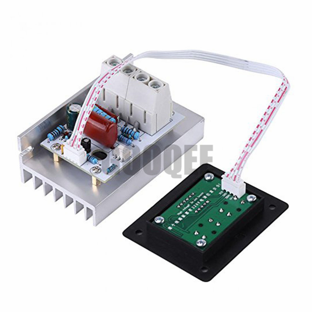 AC 220V 10000W Digital Control SCR Electronic Voltage Regulator 10-220V SCR Thyristor Digital Control SCR Electronic Voltage цена
