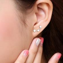 Three Star Shaped Stud Earrings