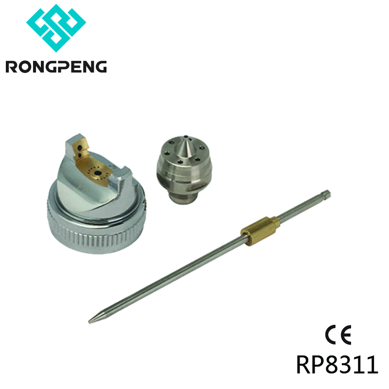 Rongpeng Needle Nozzle Air Cap Set For HVLP LVLP HP Spray Gun With Optional Nozzle 0.8 1.0 1.3 1.4 1.5 1.7 1.8 2.0 2.2 2.5 3.0mm
