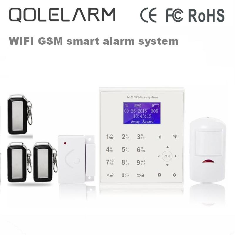 433mhz Wireless wifi gsm alarm system for home security burglar alarm Android/IOS APP control Cloud service +PIR detector wireless smoke fire detector for wireless for touch keypad panel wifi gsm home security burglar voice alarm system