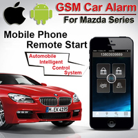 Top Quality App GPS GSM Car Alarm for Mazda Push Button Start Two Way Car Alarm Automobile Intelligent Control System CARBAR
