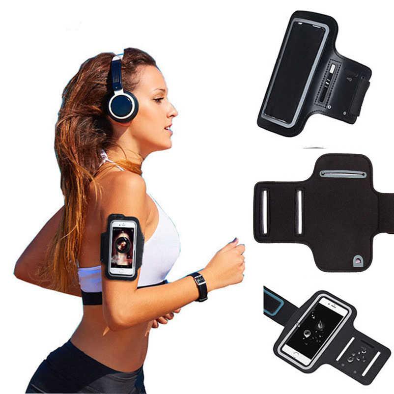 4.7-6.5 بوصة خزائن هاتف آيفون X XS ماكس XR 6 6s 7 8 Plus قضية الرياضة شارة الذراع سير شريطي غطاء تشغيل حقيبة قاعة رياضة الغلاف