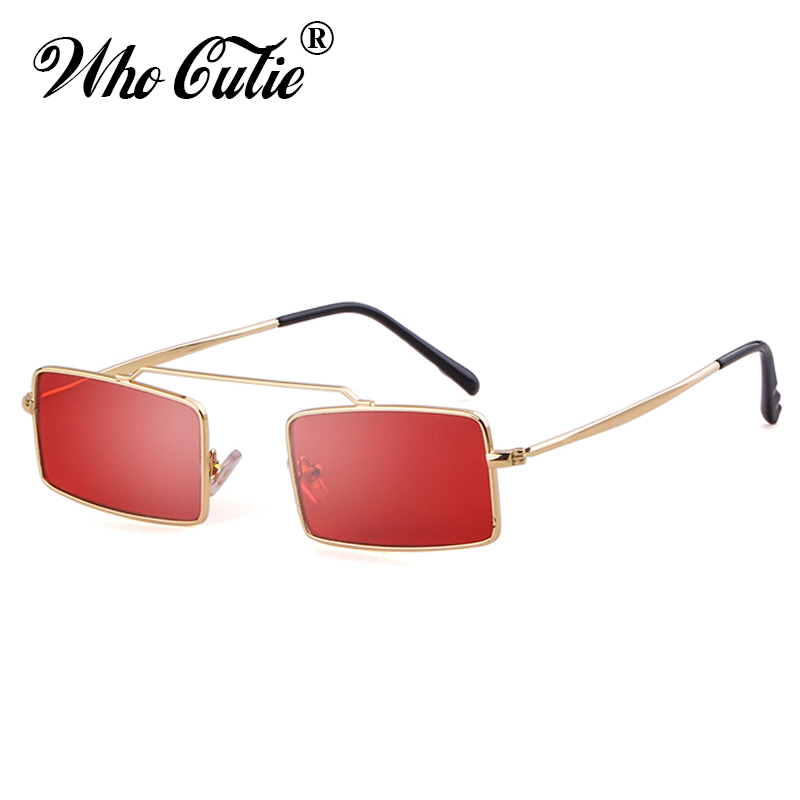 Fine Who Cutie Small Rectangular Vintage Sunglass Women Fashion 90s Sunglasses Men Brand Designer Retro Sun Glasses Lady Shades Om781 To Produce An Effect Toward Clear Vision Women's Sunglasses