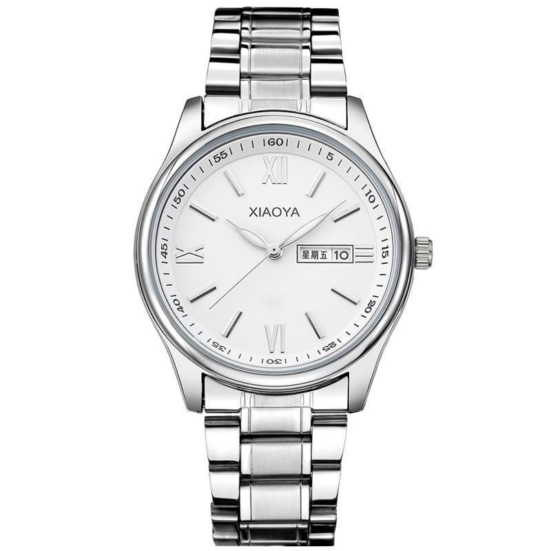 TOP Luxury Brand XIAOYA Men Dress Watch Stainless Steel Gold Silver Quartz Wristwatch Waterproof Retro Male Business Clock цены