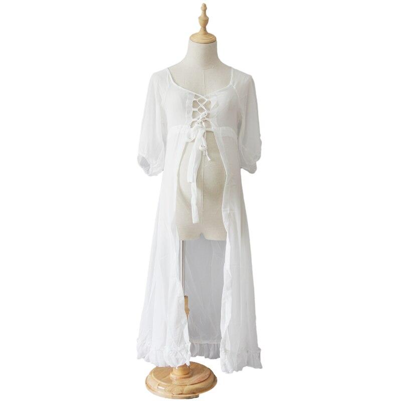 RQ Maternity Dresses for Photo Shoot Women Dress Fashion Maternity Photography Props Maternity Dresses long Chiffon Dress Q112