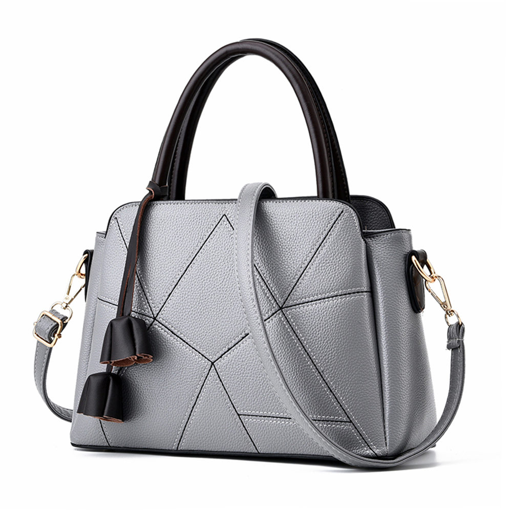 ФОТО Irregular Plaid PU Leather Women Handbag Girl Casual Fashion Shoulder Crossbody Bag Durable Pouch  for Shopping Travel Party