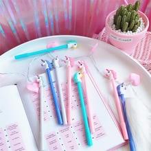 24pcs/lot Korea Novelty Dreamy Unicorn Pony Black Gel Ink Writing Pens Office Study Materials Kids Birthday Party Favor