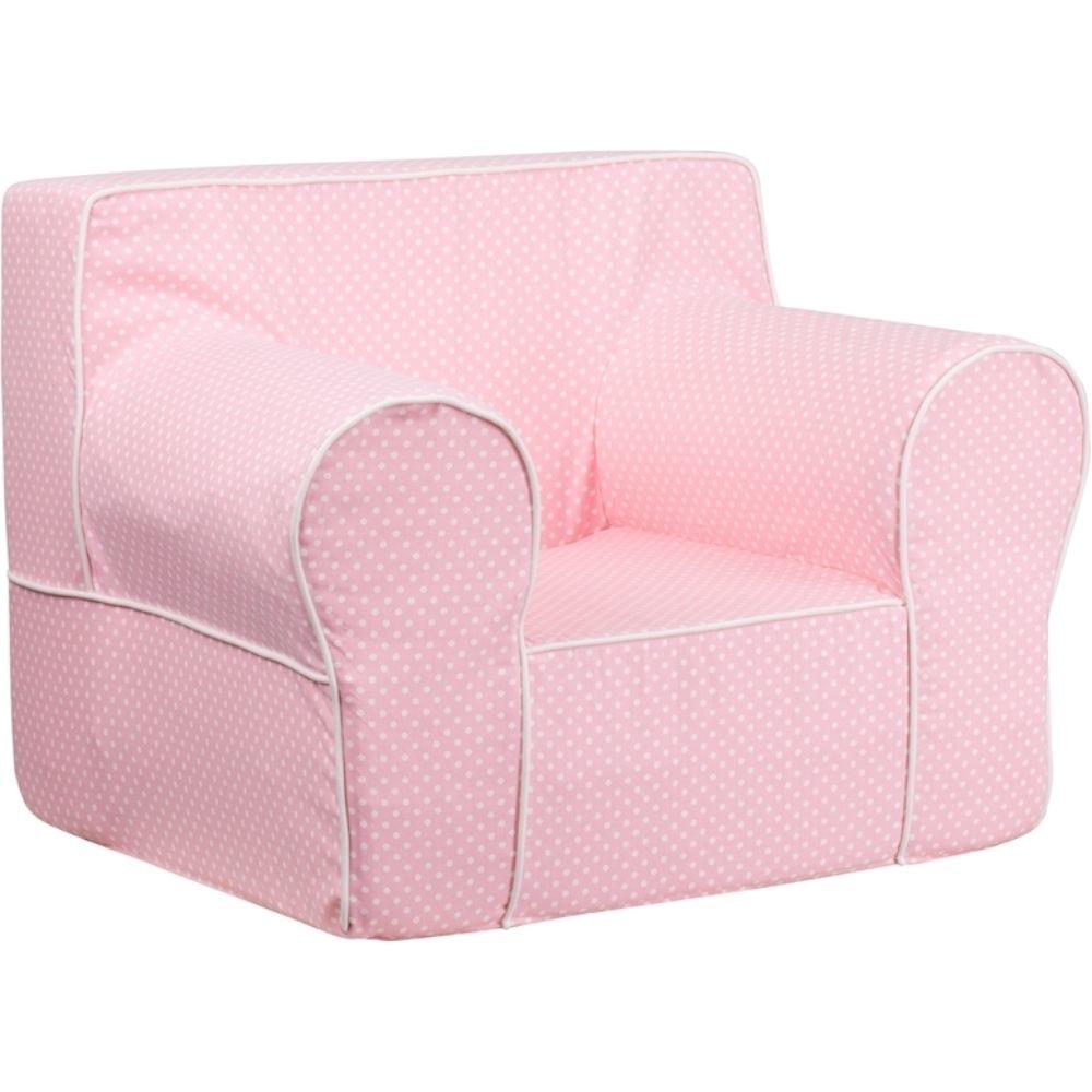 Pink Fabric Kids' Chair Pink, White ходунки kids glory sbl5301w pink