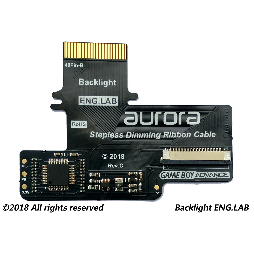 LCD Backlight Kits for GBA Backlight Screen <font><b>AGS</b></font>-<font><b>101</b></font> LCD (White ribbon) 2018 Stepless Dimming Plate GBA <font><b>SP</b></font> Gamepad Accessories image