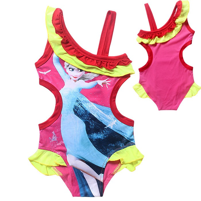 321c7008f68cd Elsa Anna Swimwear Kids Swimming Bikinis Set one Pieces Baby Girls Bathing  Suit Children Swimsuit