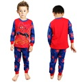 New Spring Cotton Boys Pajama Sets Long Sleeve Tops T-shirt Pants Baby Kids Sleepwea Cheap Children Clothing Set Pjs