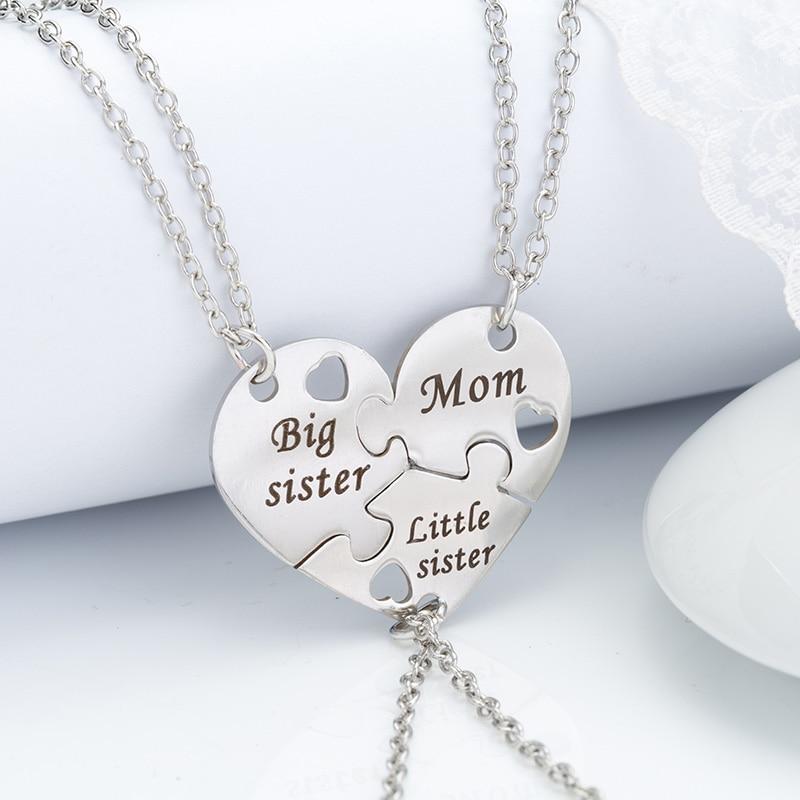 Ожерелье с металлической подвеской «Мама и дочь», 3 шт./компл.
