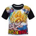 Dragon Ball Kids Boys T-shirt black cotton short sleeve t shirt for children