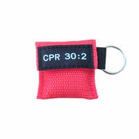 180Pcs/Pack CPR Mask CPR Face Shield With One way Valve Keychain Keyring Mask For Emergency Rescue First Aid Survival Kits