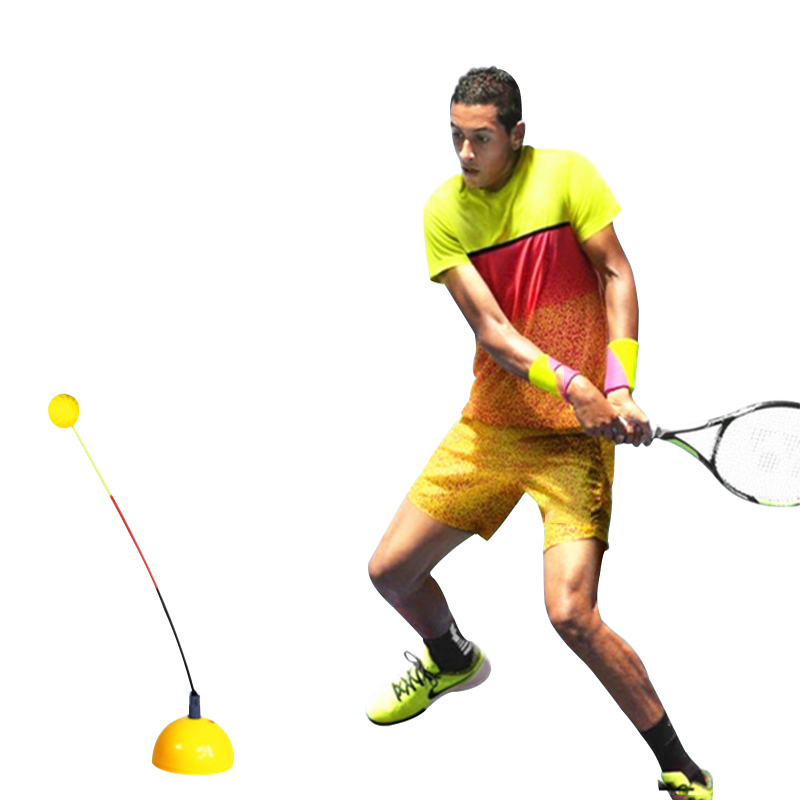 Professional Tennis Trainer Portable Stereotype Swing Tool Practice Training Ball Machine Self-study Accessories For Beginners