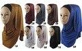 2016 Женщин-Мусульманок Исламской Горный Хрусталь Арабских Головные Уборы Длинный Шарф Хиджаб Негабаритных Макси Шеи Шарф Реального Шаль 170*50 см бесплатная Доставка
