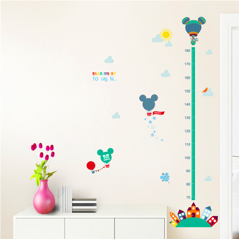 Cartoon Movie Minnie Mouse Growth Chart Wall Art Decals Living Room