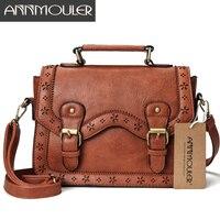 e3f3c33e7 Annmouler Brand Women Satchel Bag Vintage Shoulder Bags Brown Hollow Out  Crossbody Messenger Bag Small Briefcase. Annmouler Marca Mulheres Saco ...