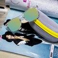 2017 Mulheres Quentes Da Moda Óculos De Sol Com Óculos Caso Claro Quadro Feminino Óculos de Sol Do Vintage Feminino Óculos Originais