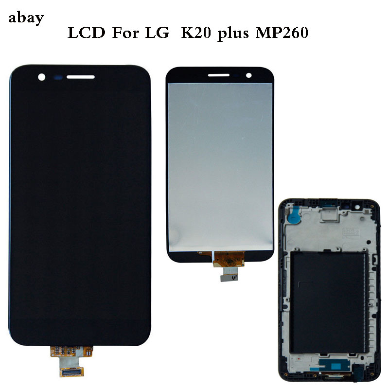 5.3 Inch OEM For <font><b>LG</b></font> <font><b>K20</b></font> <font><b>Plus</b></font> MP260 TP260 VS501 LCD Display Touch <font><b>Screen</b></font> Digitizer Assembly with Bezel Frame <font><b>Replacement</b></font> Parts image